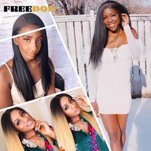 Image 3 - Парик Синтетический на сетке спереди для чернокожих женщин Yaki, прямой длинный парик 26 дюймов, парик на сетке, Детские волосы из термостойкого волокна