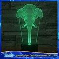 Visión 3D Elefante 7 Gradientes de Colores LED de Acrílico Placa de Escritorio Dormitorio de La Lámpara de Luz Decoración de La Noche
