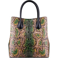 LUOFEIHUA 2019 new one shoulder big bag retro handbag Snake leather handbags European and American style leather bag