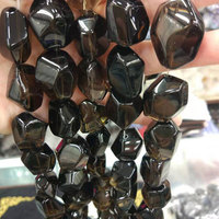 16 18x26 28mm Natural Faceted Freeform Smoky Quartzs Beads For Jewelry Making Beads For Women 15'' Needlework DIY Beads Trinket