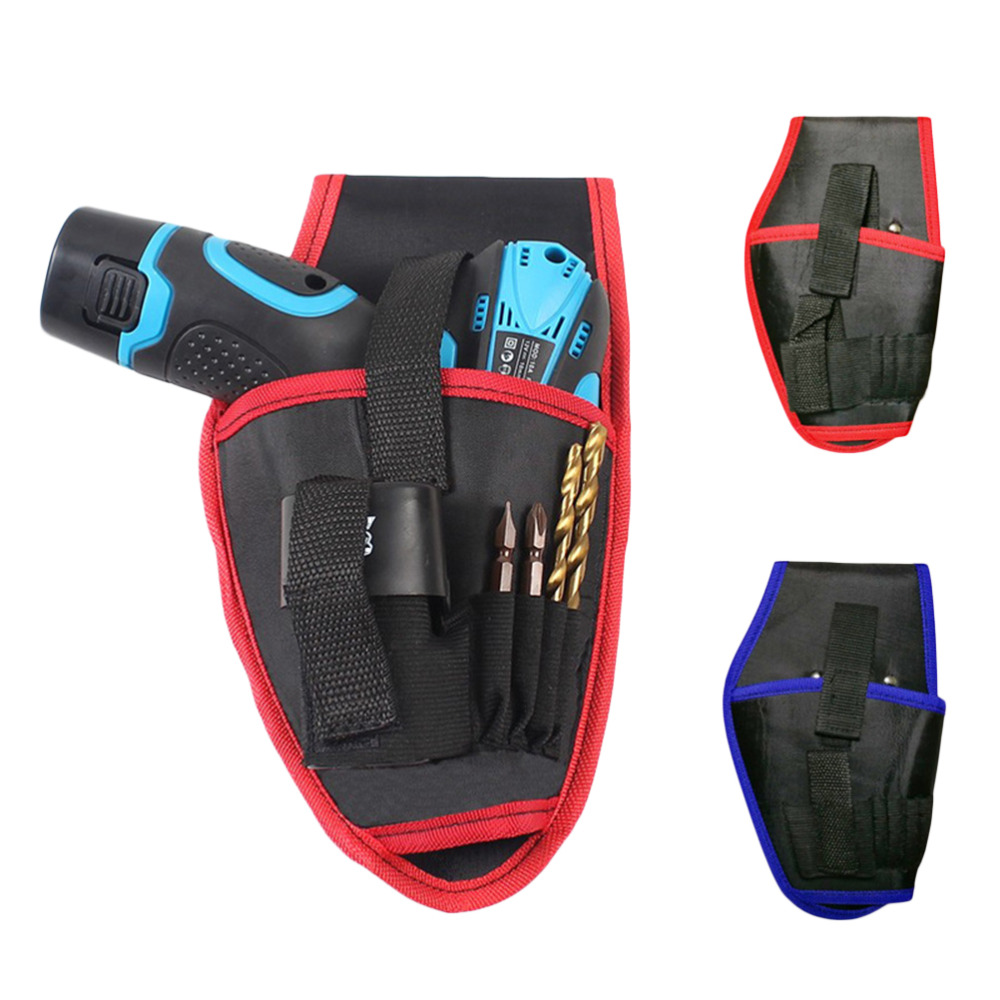 Portable Tool Bag Waist Belt Electrician Tool Pouch Bag Holder Drill Holster For 12V/18V Lithium Cordless Drill Storage Bag