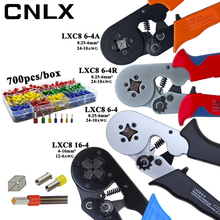 Alicates de prensado LXC8, caja de terminales de tubo eléctrico, mini herramientas de abrazadera de marca, 10S 0,25 10 mm2 23 7AWG LXC8 6 4/6 4A 0,25 6 mm2 LXC8 16 4