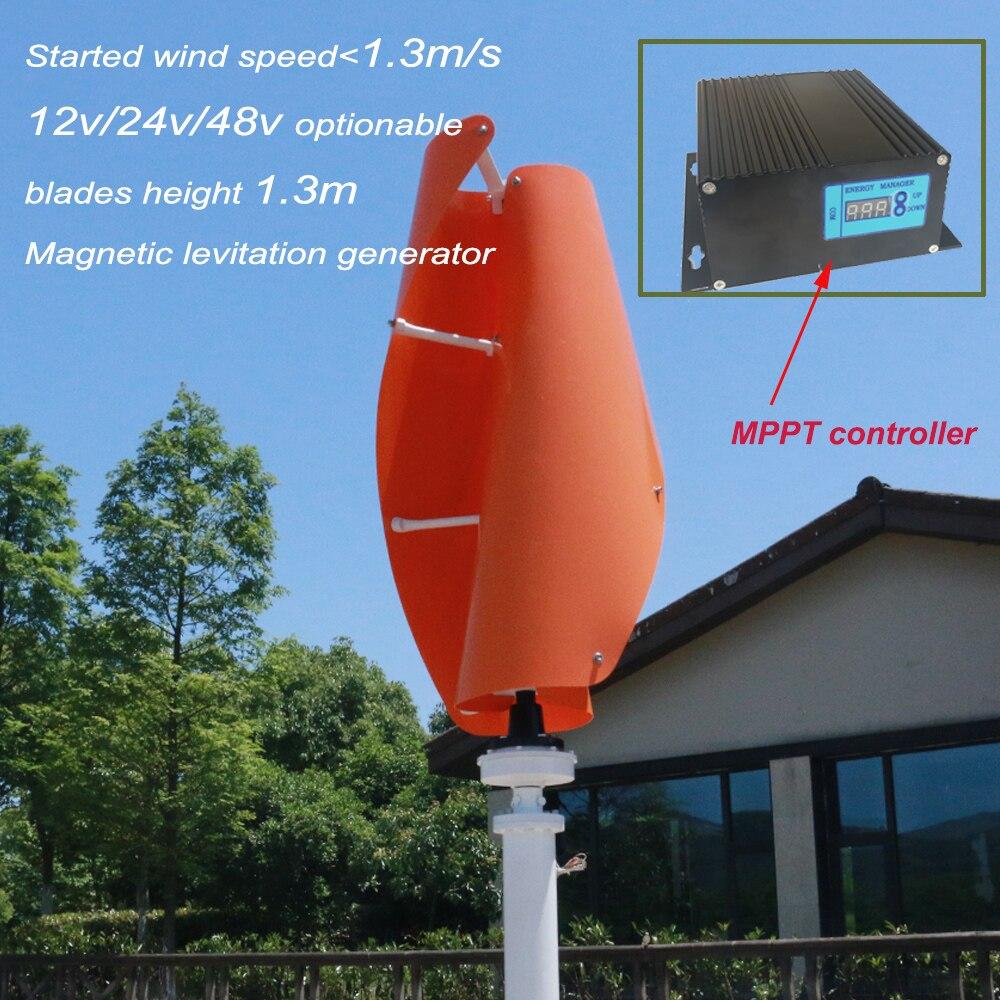 цена на Helix wind turbine permanent magnet generator wind generator 500w 48v vertical axis wind turbine