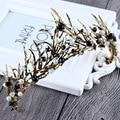 Nova Moda de Luxo Cristal Preto Rainha Coroa concurso de beleza princesa Diadema para Senhoras de Ouro Acessórios Para o Cabelo de Casamento Da Noiva