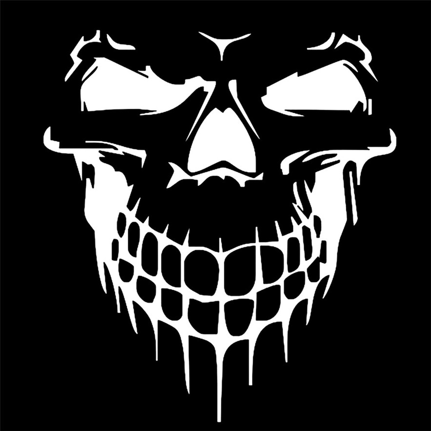 hot sale Reflective Skull Car Stickers Styling Removable Waterproof Sticker #8