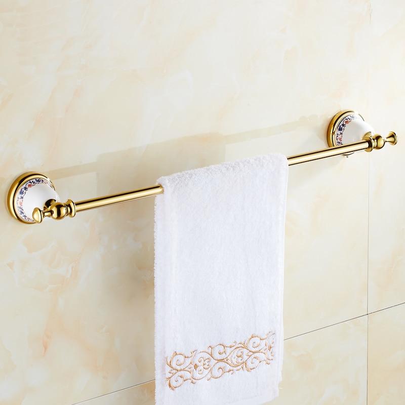 European antique bathroom towel bars gold, Brass toilet wall hanging towel rack shelf vintage, Art copper single towel bars rack antique bathroom shelf pendant bathroom towel rack european copper towel rack gold bathroom accessories