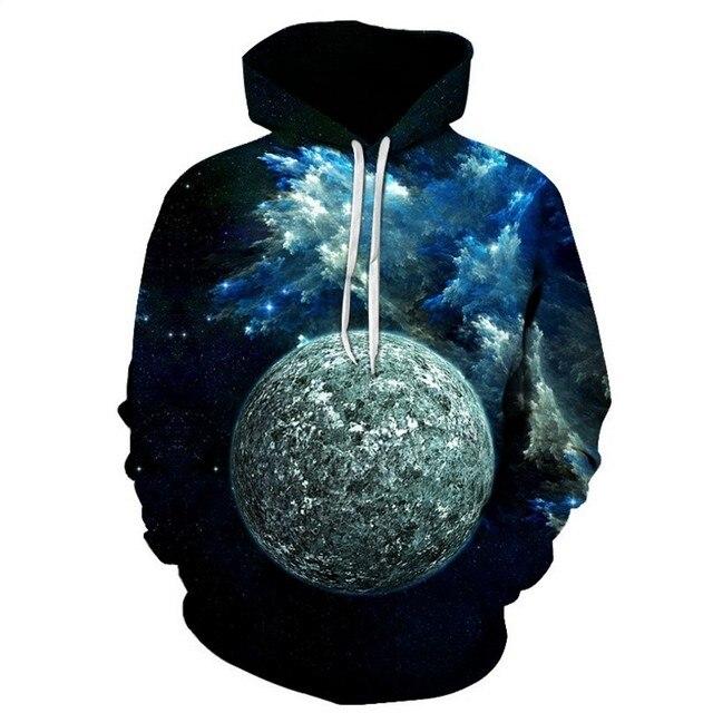FILLMANNS Space Universe planet Hoodies Hooded Men/Women Hat 3d Sweatshirts Print Colorful Nebula Thin Autumn Sweatshirts  2