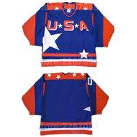 Ediwallen ee.uu. en blanco película Jersey hombres azul todo cosido retroceso de color hielo Camisetas de hockey para el deporte Ventiladores ventas al por mayor precio más bajo