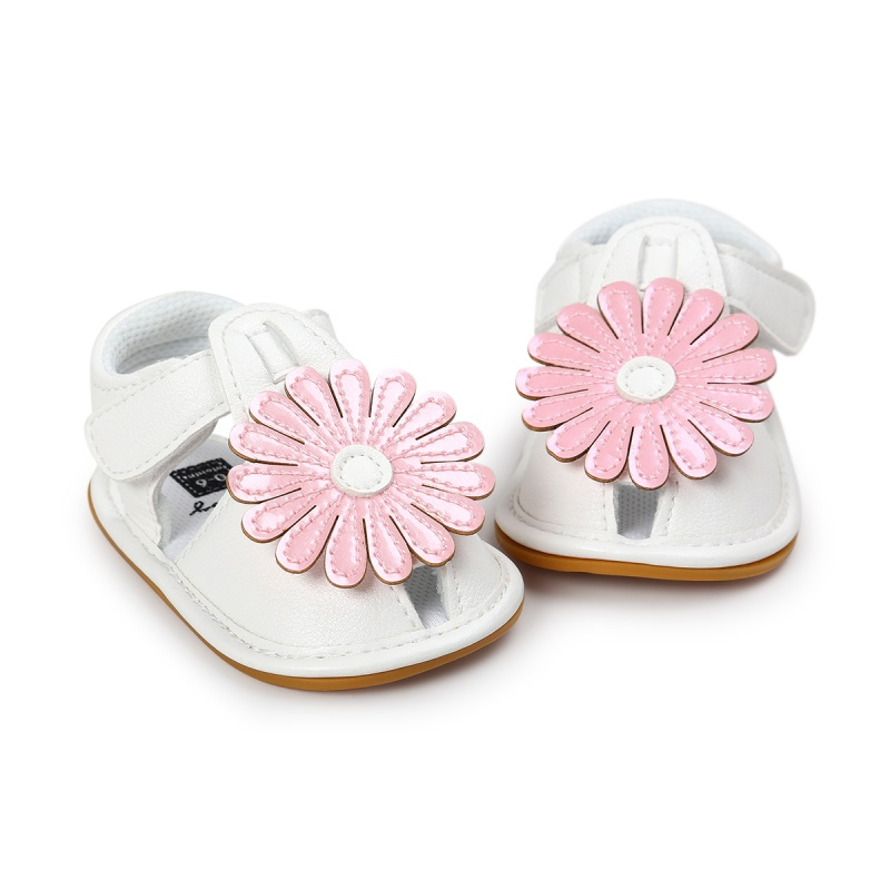 Girls Summer Kids Cute Tartan Hollow Out Princess Style Flower Breathable Non-slip Soft Bottom Cack Sandal