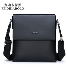 FEIDIKABOLO Cow Genuine Leather Messenger bag mens shoulder bag Small Casual Flap male man Crossbody Bags for Men Leather bags