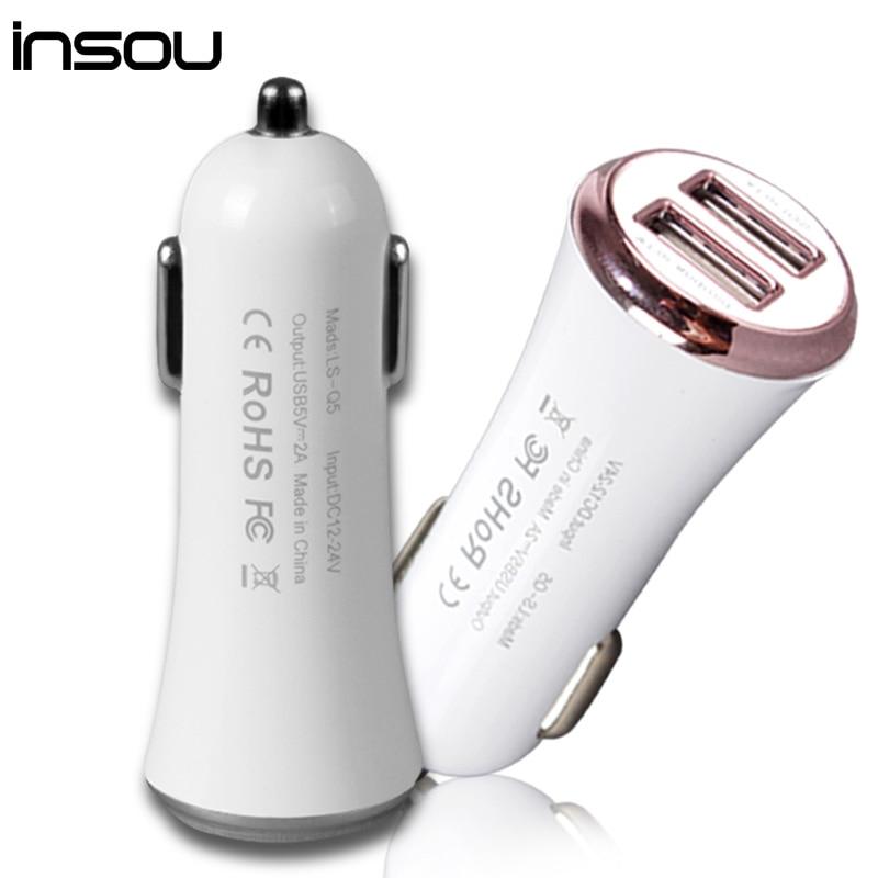IPhone üçün INSOU Car-Charger 5V 2A Micro Auto Cüt USB Avtomobil - Cib telefonu aksesuarları və hissələri - Fotoqrafiya 5