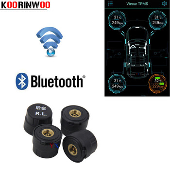 KOORINWOO Professional Wireless Bluetooth TPMS Tire Pressure Monitoring System Outset Tire Pressure Alarm Andriod IOS Diagnostic