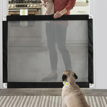 Portable Dog Gate and Pet Fence for Protection of Pets Suitable for Hallway Door and Stairs