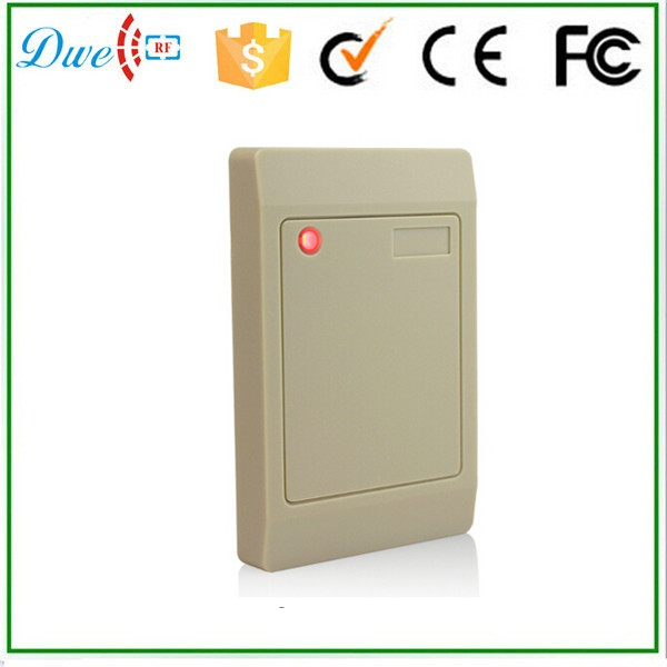 Free shipping factory price  white color 13.56mhz MF wigand 26 wiegand 34 access control rfid reader 12V wiegand 26 input
