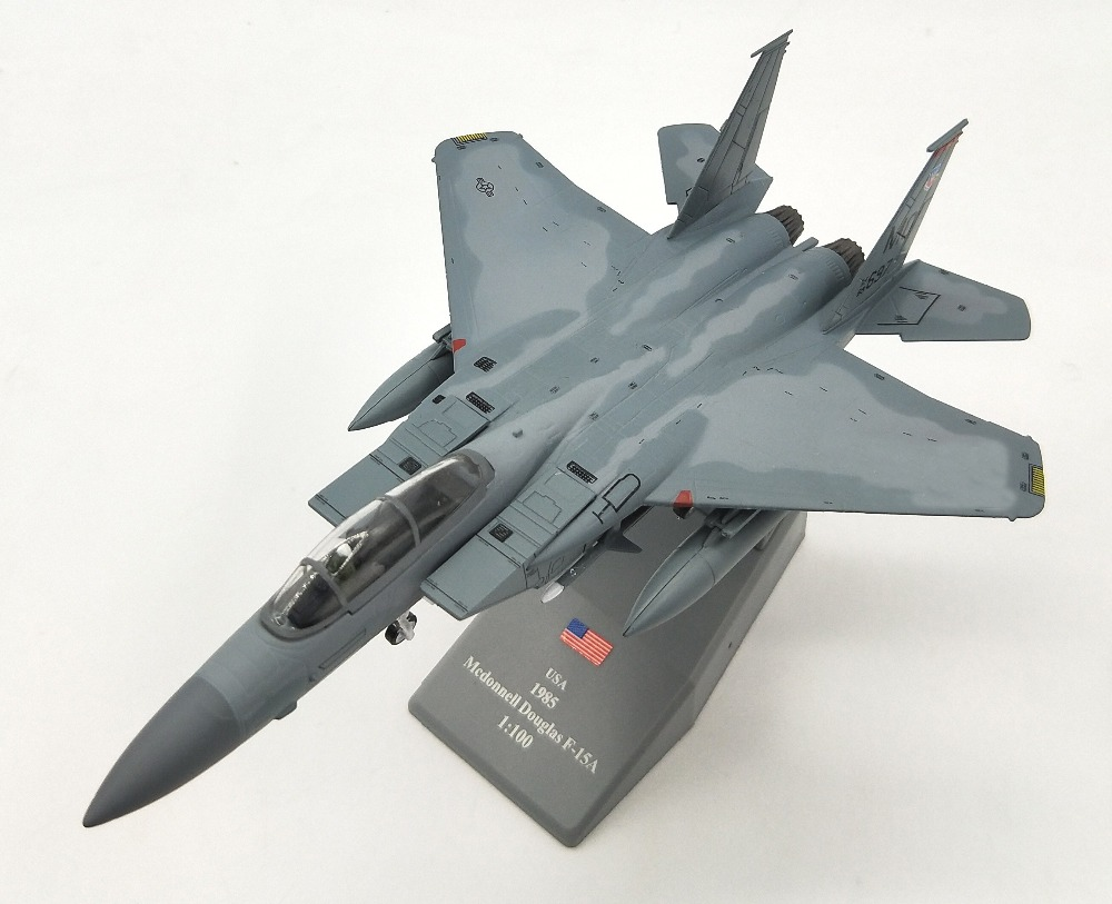 1:72 US Air Force F15A fighter bomber model Alloy aircraft model Collection model new city police station fit legoings city police station swat figures building blocks bricks kids boys diy toys 60141 gift kid