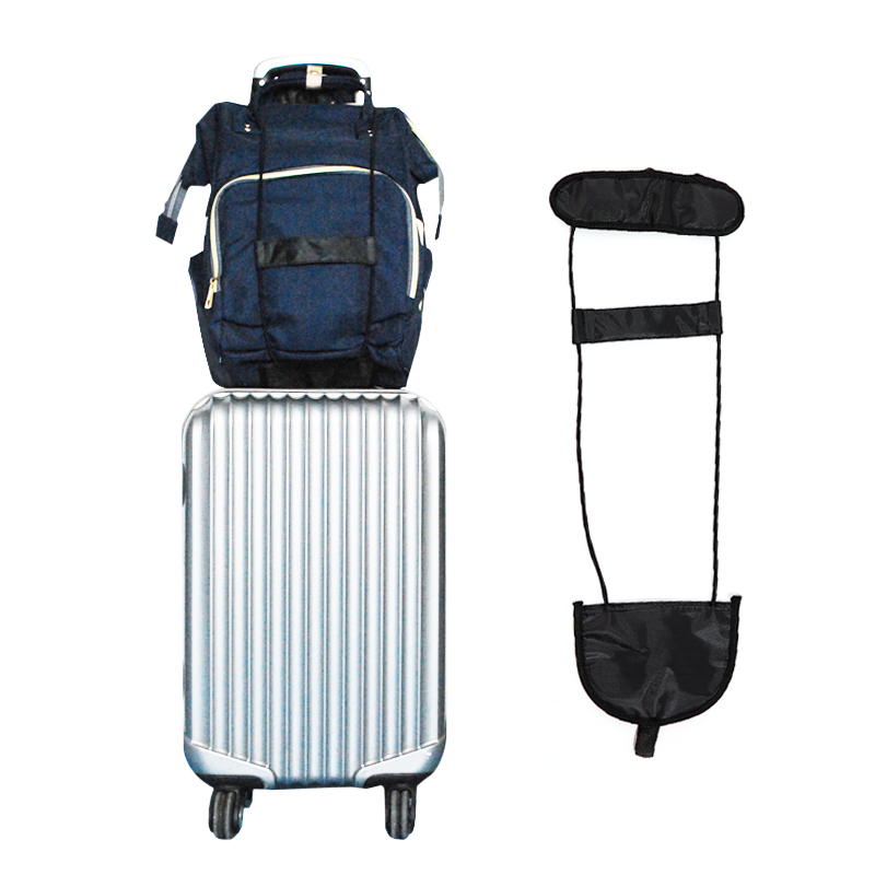 Black Elastic Telescopic Strap Travel Bag Part Trolley Case Luggage Fixed Belt Suitcase Security Adjustable Accessories Supplies