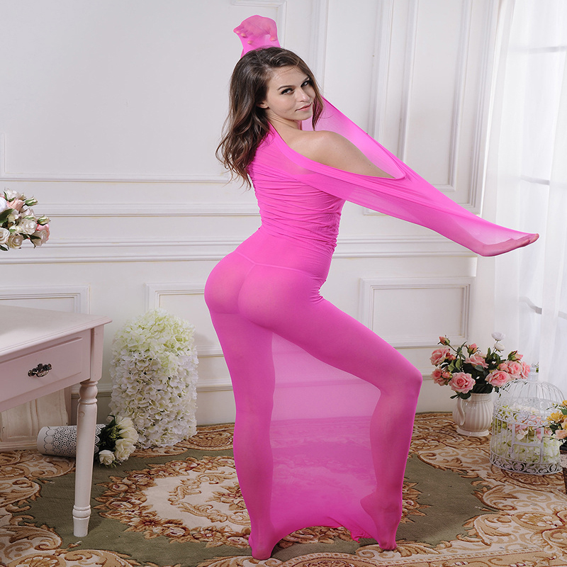 Double Lengthening seamless Super Thin Stockings Men and Women Full Body Head Top Tight Socks Body Suit in Bondage Gear from Beauty Health
