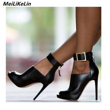 8d7ae90285e3 2018 New Gladiator Women Pumps Ladies Sexy Buckle Strap Roman High Heels  platform Peeped toed Sandals