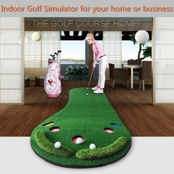 Pgm تماما ، الغولف وضع حصيرة ، الجولف مضرب ، ممارسة وضع التدريب حصيرة ، حجم 0.9*3 متر ، يسهل حملها و للطي