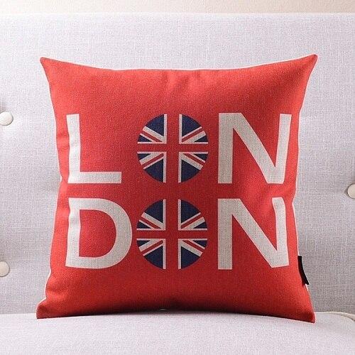 Лондон подземный Подушка Чехол постельное белье из хлопка с надписью «Keep Calm and носить на заказ накидки на подушки 45х45см наволочка для дома Спальня Диван украшения - Цвет: 5