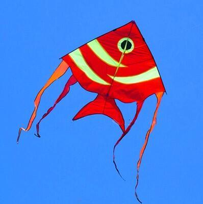 free shipping high quality large fish kite 10pcs/lot Mackerel kite outdoor toys with handle line sail crafts elf fabric ultraman