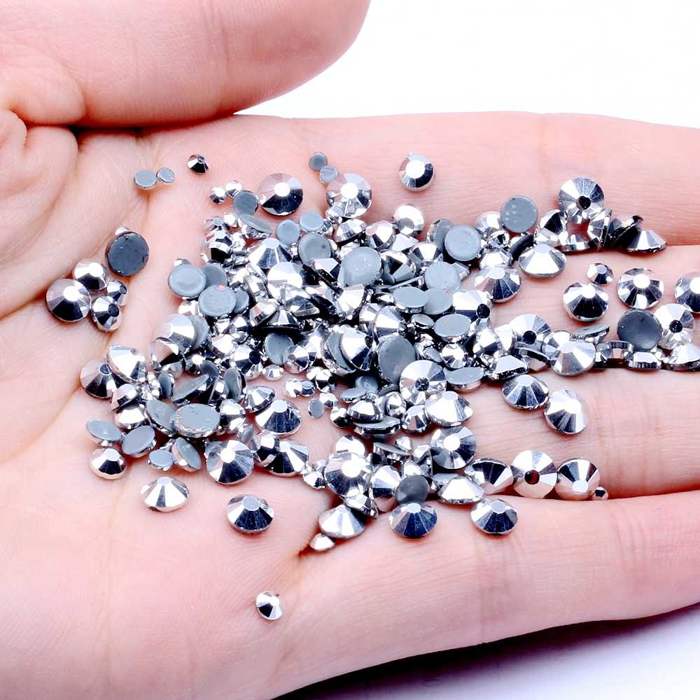 Labrador cristal Hotfix Strass pour ongles ss6-ss30 et colle mixte support fer sur Strass pierres bijoux à bricoler soi-même sac à dos fournitures