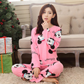 Pijamas mujer Primavera y otoño femenino de dibujos animados manga larga nihgtgown traje estudiantes precioso Equipamiento del Hogar pijamas para las mujeres
