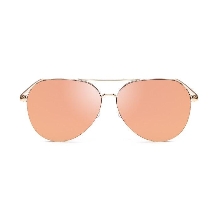 New Fashion Flat Lens Mirror aviation Sunglasses Women Stylish Sun Glasses Lady Men Metal Frame Eyewear High Quality 1