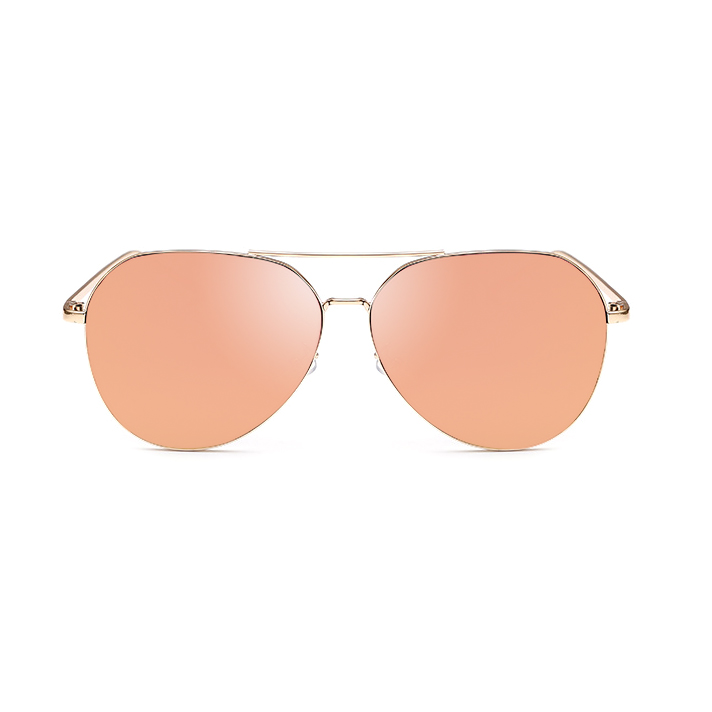 New Fashion Flat Lens Mirror aviation Sunglasses Women Stylish Sun - Apparel Accessories - Photo 2