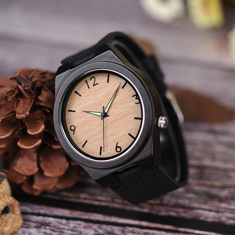 Zegarek drewniany Bobo Bird Glow B11 4