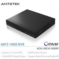 ANTS 4CH 8CH Desktop NVR Support 4 8 Pieces Onvif 1080P IP Camera With Goolink App