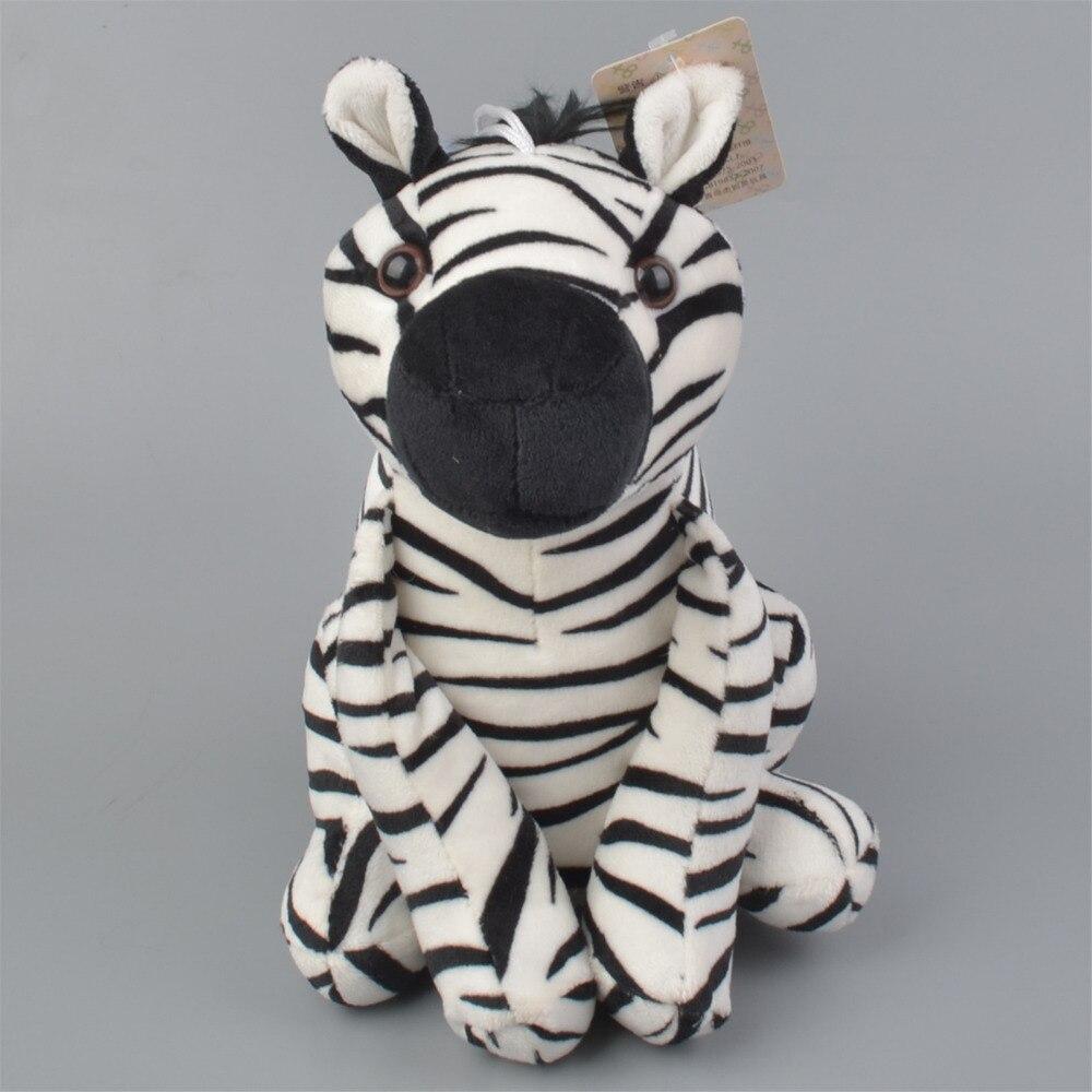 22 см сидя Зебра aniamls мягкие плюшевые игрушки, детские куклы подарок бесплатная доставка