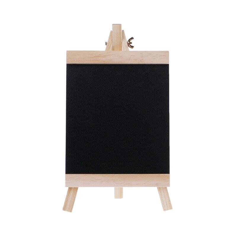 Desktop Message Blackboard Easel Chalkboard Kids Wood Writing Boards Collapsible