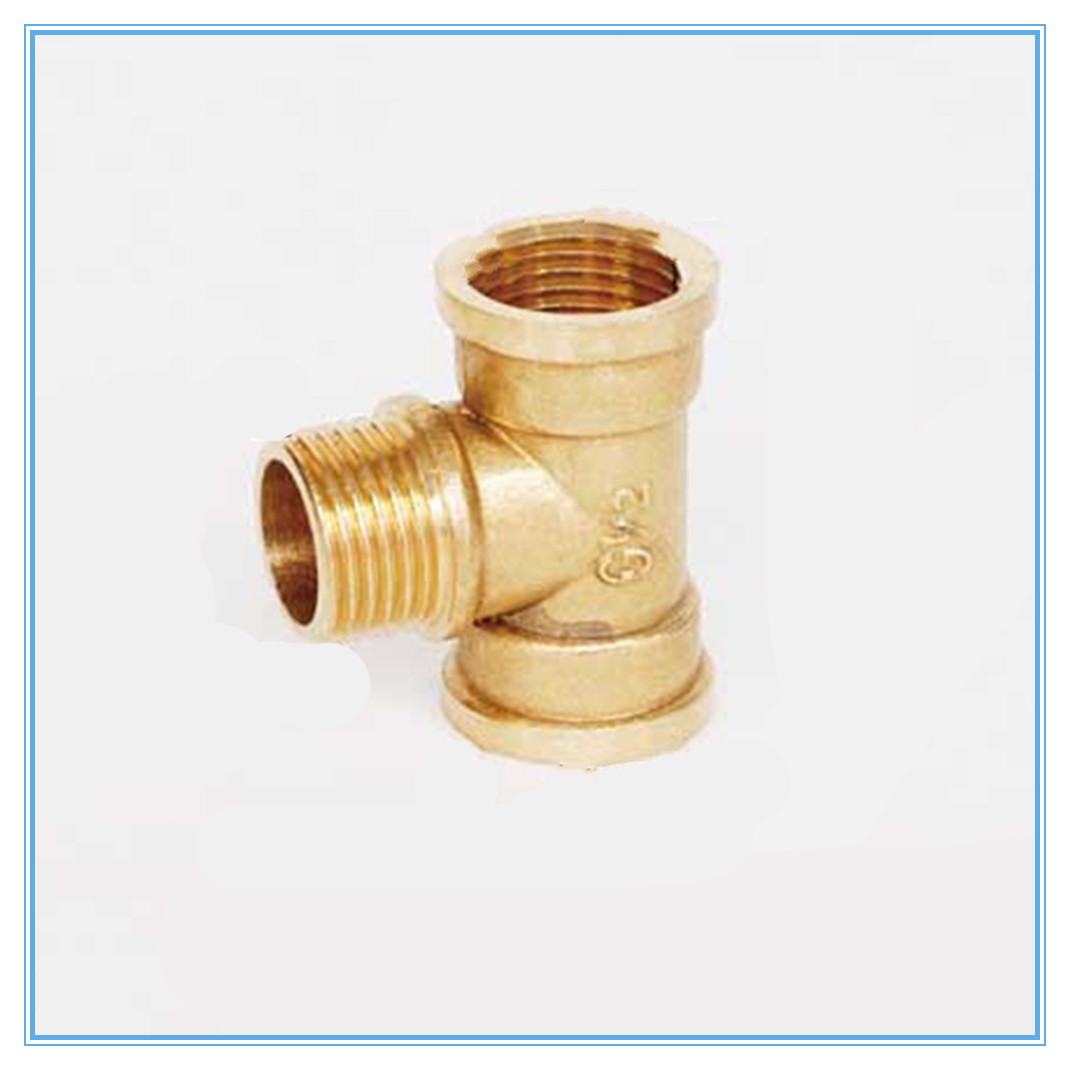 Copper Tube Fittings Tee Female /Male /Female  1/8