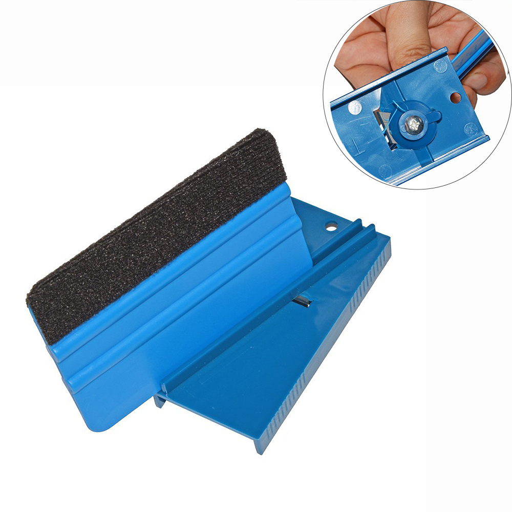FOSHIO Hard Card Squeegee Sharpener Scraper Repair Tool Window Tint Tool Sharpening Smoothing Edges Car Wrap Tool Skiving Knife