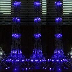 6x3 m 3x3 m Waterval LED Gordijn Ijspegel Kerstverlichting Outdoor/Indoor Slingers LED STRING fairy Lights Wedding Party Decoratie