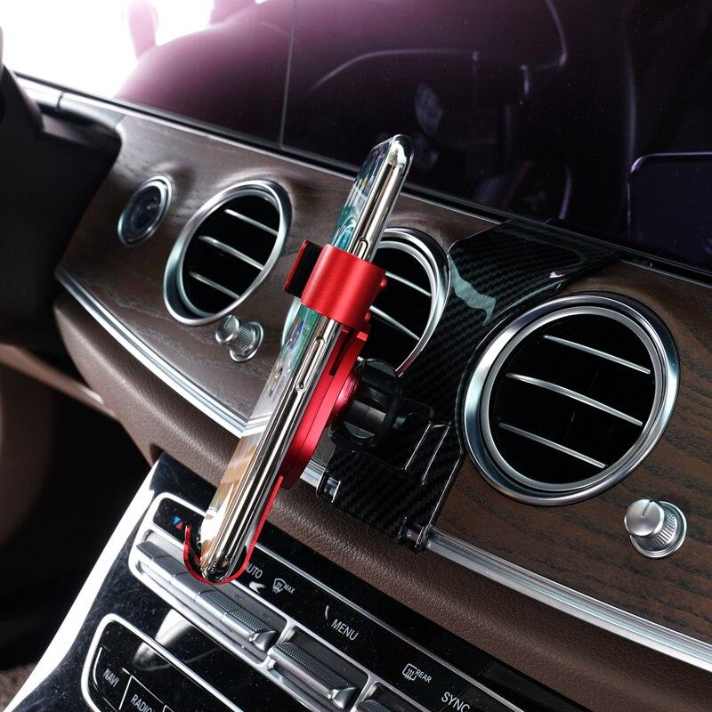 Para Mercedes-Benz c-Classe W213 2017 2018 2019 Car Air Vent Mount Holder Telefone para o Telefone Móvel estável Cradle Suporte Do Telefone Inteligente