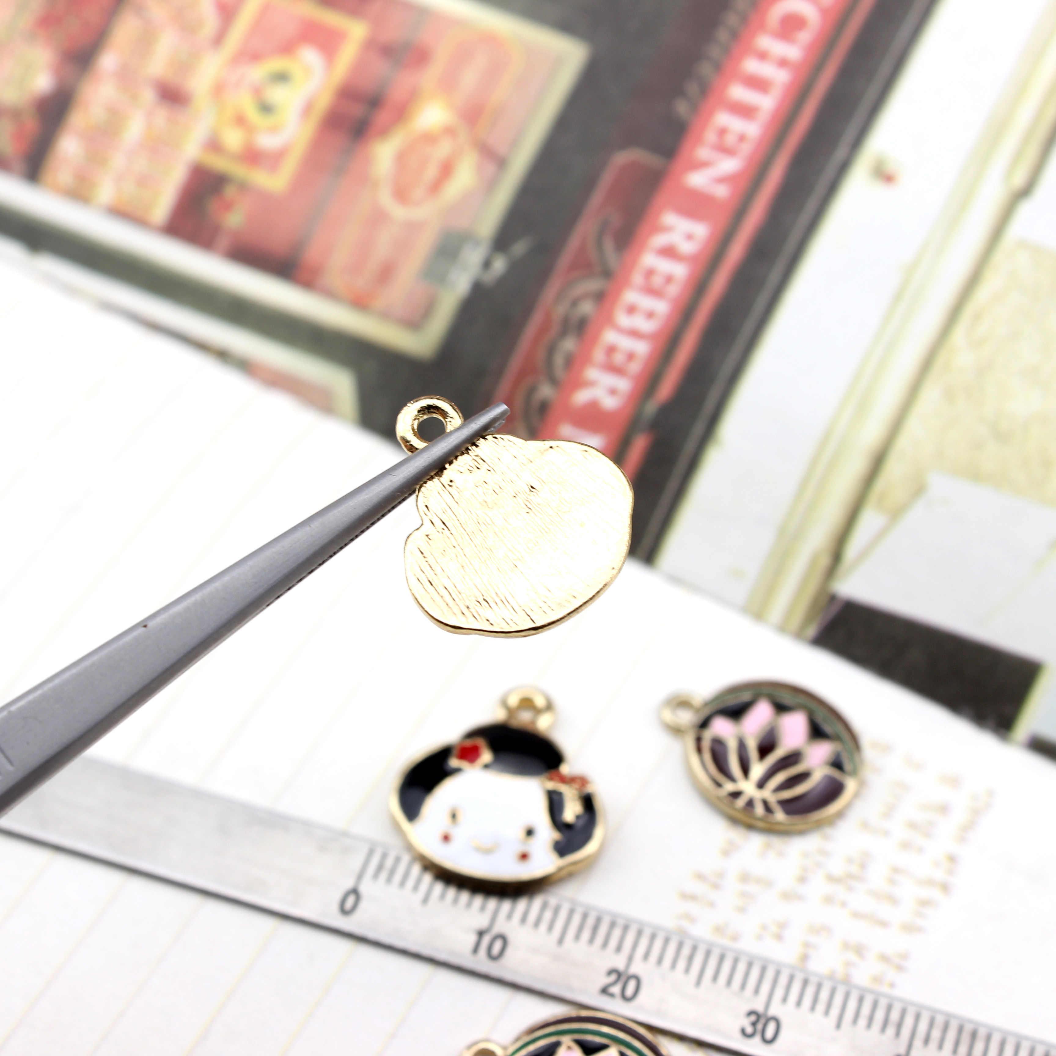 Korea Alloy  Round Flower Earrings for Women Material Bracelet Necklace Pendant For Girls Children Kids DIY jewelry accessories