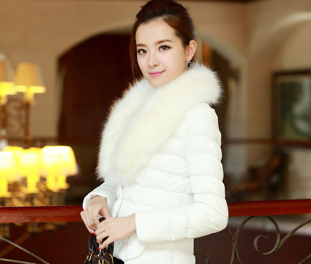 winter coat women casual Slim thin thick warm cropped cashmere padded Feather short down jacket jaqueta femininas