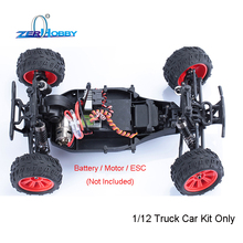 RC CAR 1/12 SCALE 2WD BRUSHED/BRUSHLESS ELECTRIC OFF ROAD MONSTER TRUCK CAR KIT ONLY WITHOUT ELECTRONICS