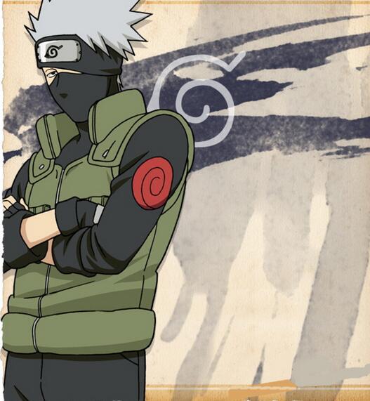 Наруто Косплэй костюм японского аниме «пальто SHINOBI Какаши Косплэй мультфильм зеленый жилет для шоу человек фантазии взрослого