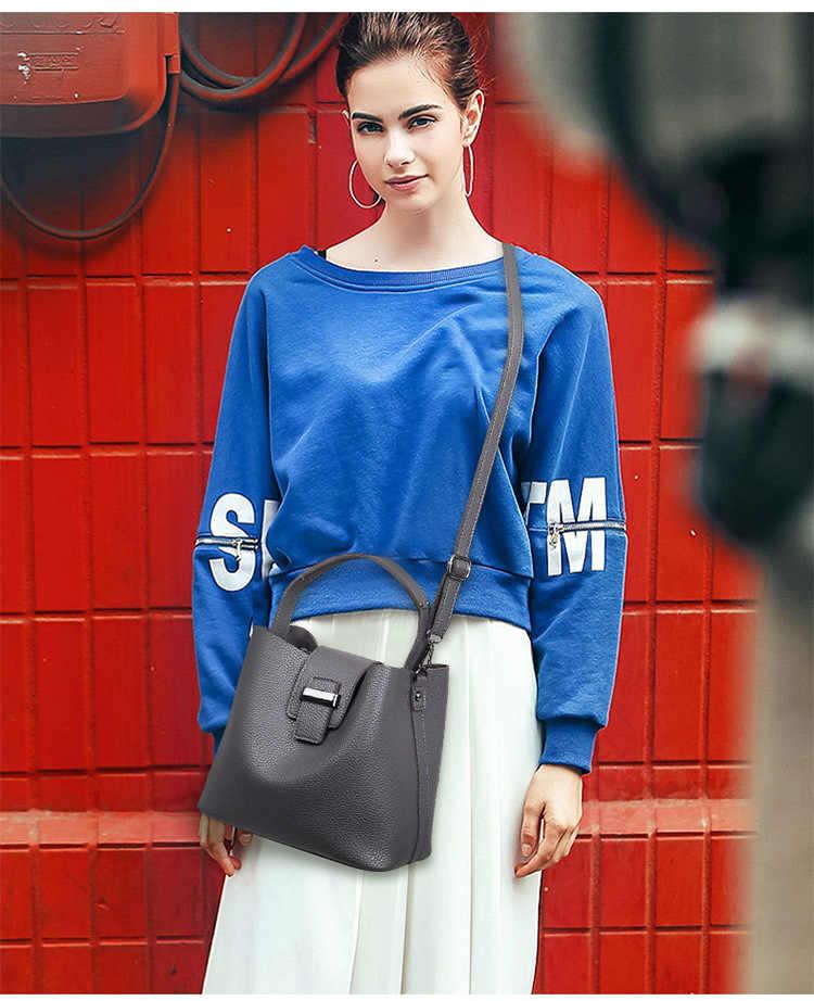 Musim Semi Baru Wanita Tas Klasik Fashion Tas Bahu Sederhana Portabel Tas Messenger Wanita Tas Tangan Merah