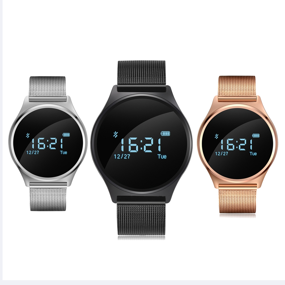 M7 Ronde Bluetooth Montre Smart Watch La Vie Imperméable À L'eau La Pression Artérielle/Moniteur de Fréquence Cardiaque Sport Smart Bracelet pour Android