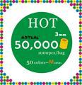 50,000 beads 50 cores 3mm mini hama contas 1000 pcs/color pegboard artkal contas brinquedos educativos dom gratuito MB1000-50
