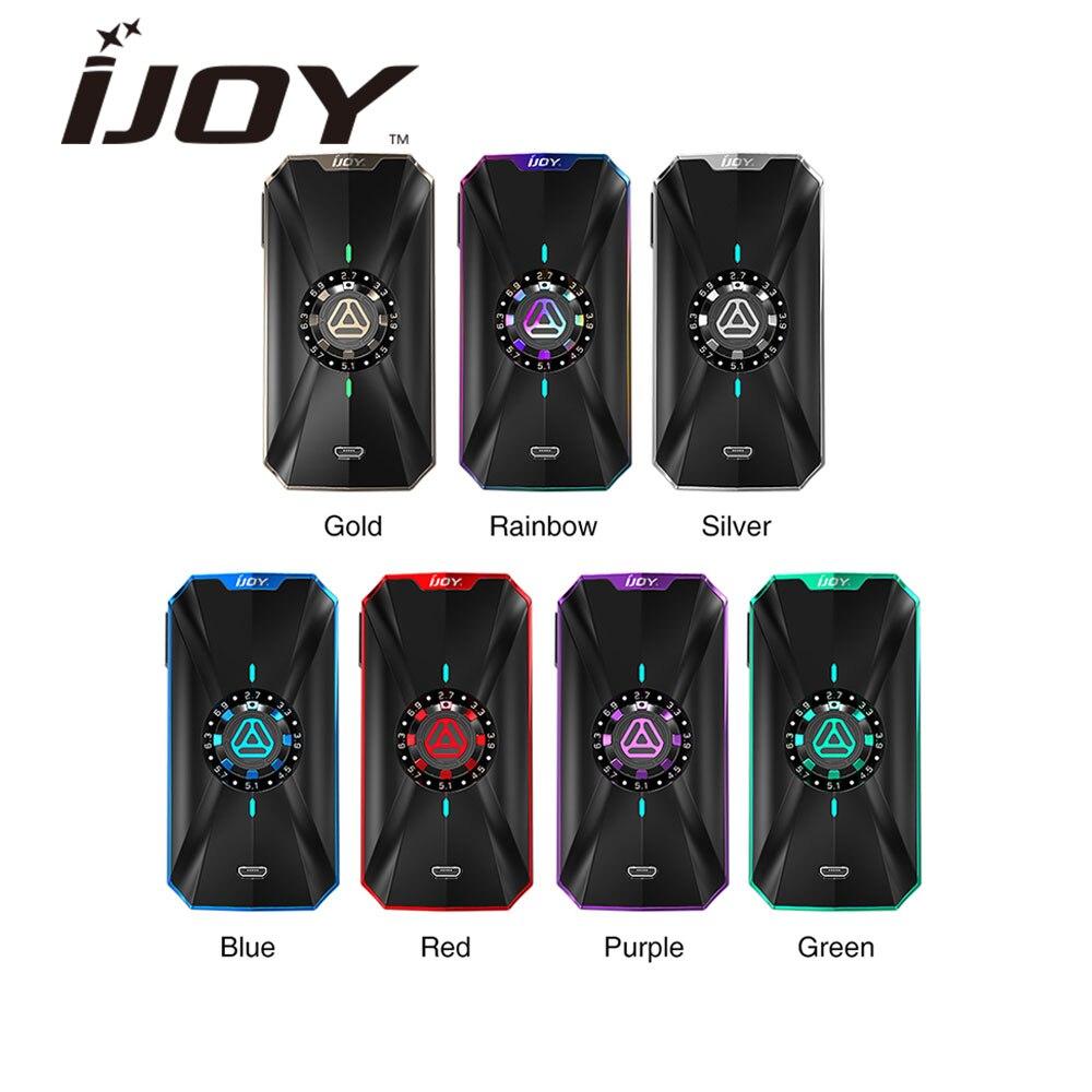 Mode d'origine IJOY ZENITH 3 boîtes Mod VV avec 16 niveaux de tension et chipset IWEPAL 360 W Max sortie E-cigarette Vape Mod vs PD18650