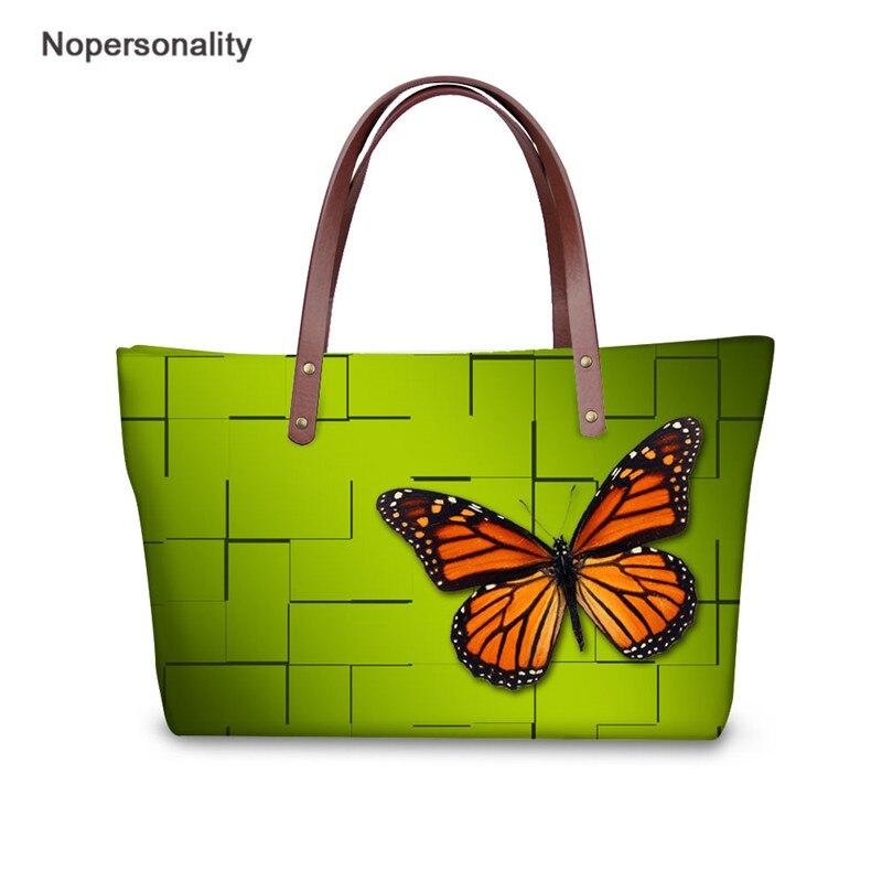 Nopersonality женская сумка красивая бабочка дизайн большой вместительности сумки для девочек верхняя часть одежды для путешествий ручка сумки ж