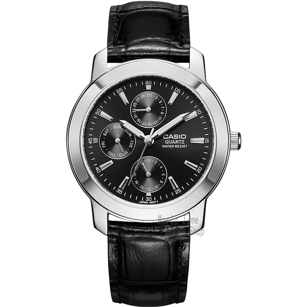 ФОТО Casio watch Men's Watch Waterproof Three Eye Two Calendar Quartz Watch MTP-1192E-1A MTP-1192E-7A