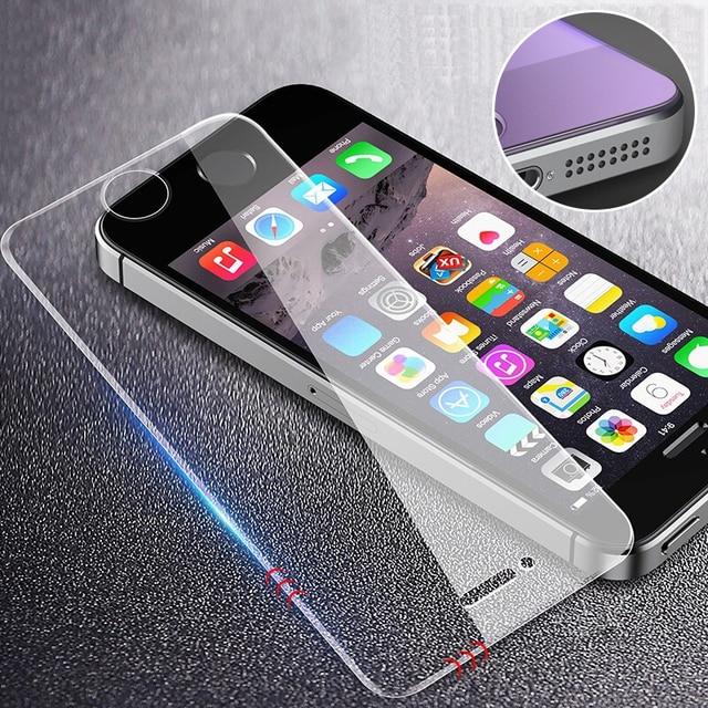 RZP Tempered Glass Trên Cho Apple iPhone 5 S 5 SE 5C màn hình Bảo Vệ 9 H Chống Ánh Sáng Màu Xanh Kính Màng Bảo Vệ Cho iPhone 5 Se