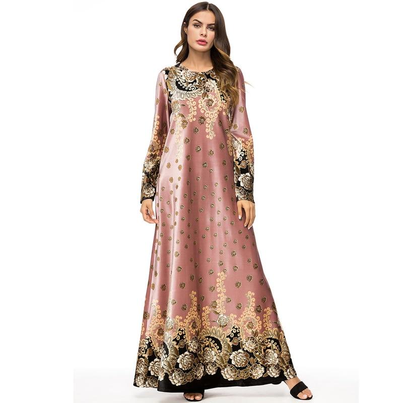 UAE Abayas For Women Winter Kaftan Qatar Bangladesh Velvet Muslim Hijab Dress Women Jilbab Robe Dubai Turkish Islamic Clothing