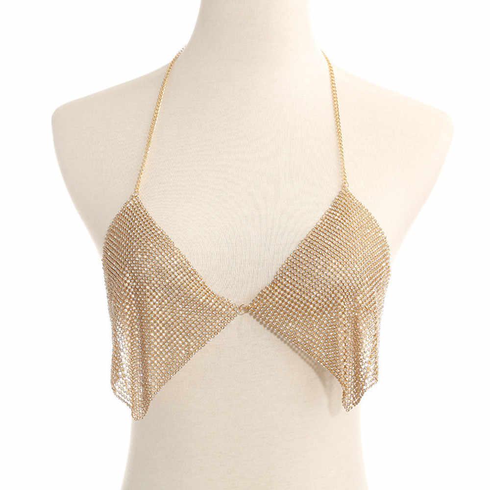 Body Chain ผู้หญิงไนท์คลับ Body Chain เครื่องประดับ Biquini เอวทอง Belly Beach Harnes ฤดูร้อนรัดเอวเซ็กซี่สำหรับผู้หญิง